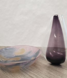 FINEGOOD - Purple Vase and candy dish